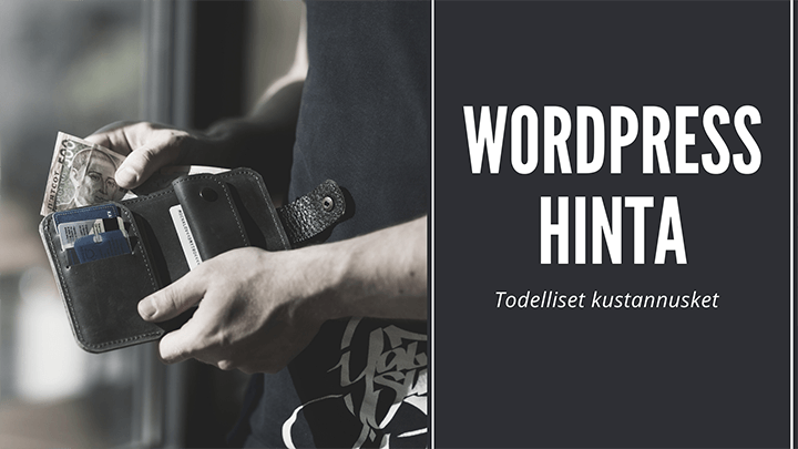 WordPress hinta